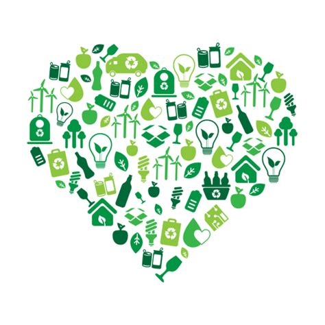 imagenes png medio ambiente green heart environmental icons svg transparent png
