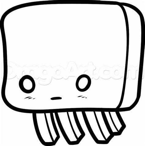 chibi minecraft coloring pages draw a chibi ghast step by step drawing sheets added by