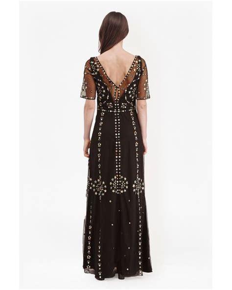 Premium Maxi Dress Import Original Premium Glitter Elegance L connection evie sparkle maxi dress in black black khaki multi lyst