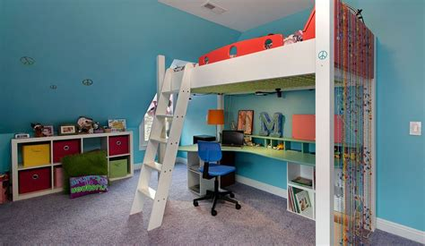 Loft Bed With Desk On Top bed desk combos save space and add interest to small rooms