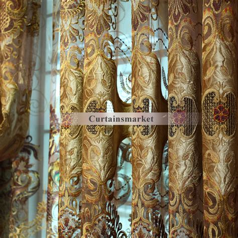 vintage style curtain fabric romantic and vintage fabric curtain of embroidery for