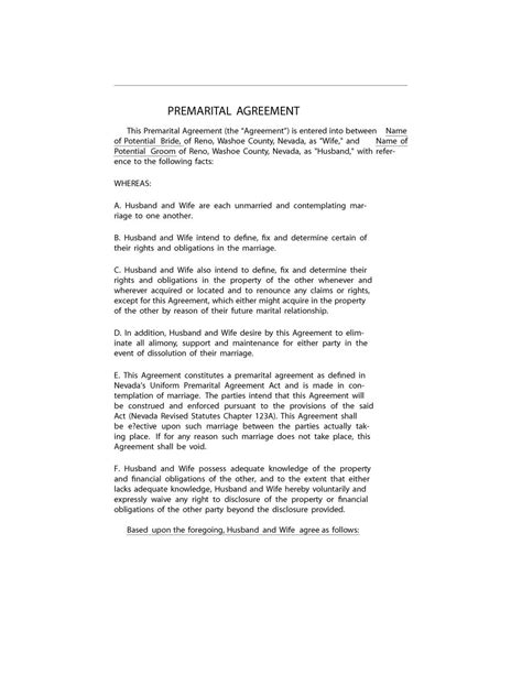 spousal support agreement template 31 free prenuptial agreement sles forms free