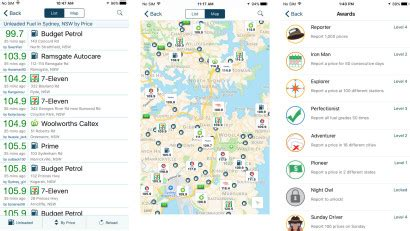 gasbuddy app finds the cheapest petrol in your area