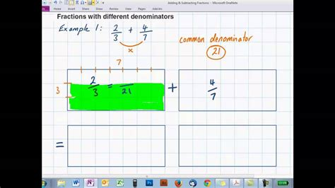 diagram to add fractions add subtract using diagrams