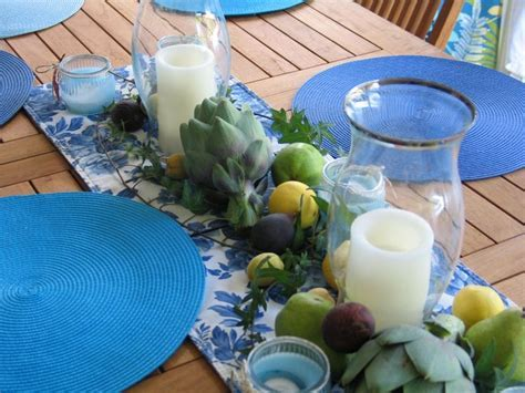 Centerpiece for outside Greek Dinner party, use real fruit