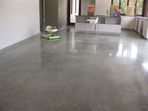 modern home flooring ideas polished concrete floors pros cons minimalist kitchen my house