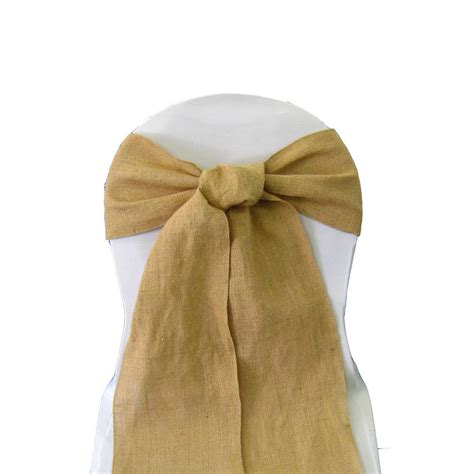 100 burlap chair cover sashes bows 6 quot x108 quot wedding event 100 fine natural jute ebay