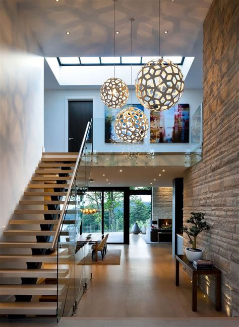 Home Decor Globe entrance hallway in elegant modern house in west vancouver