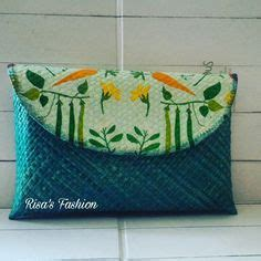 Clutch Pandan Decoupage 1 clutch decoupage pandan handwoven bags of