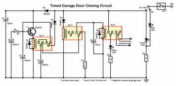 Garage Door Diagram Garage Door Closing Circuit Just Using Relays Wiring