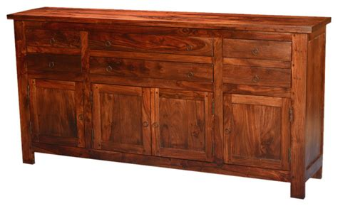 Mission Traditional Solid Wood 71 Buffet Sideboard Solid Wood Sideboards And Buffets