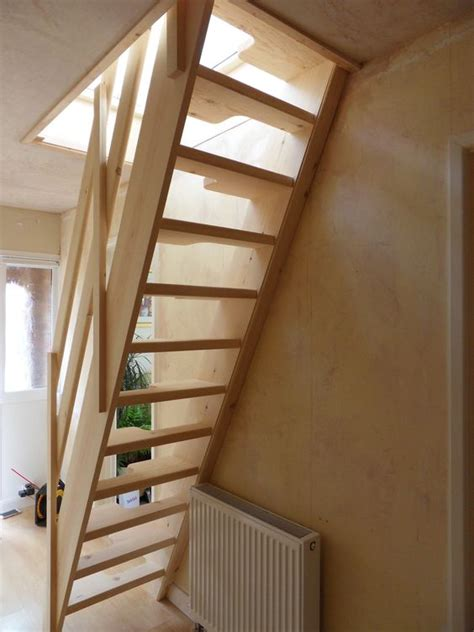 Loft Conversion Stairs Design Ideas Attic Designs Space Saver Step Conversion With Glass Balustrade Utility Room Ideas