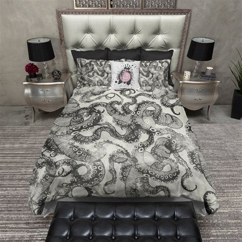 Black Light Comforter by Light Black Watercolor Octopus Bedding Ink And Rags