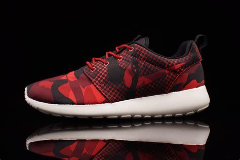 black pattern roshe runs nike roshe run print daring red sneaker bar detroit