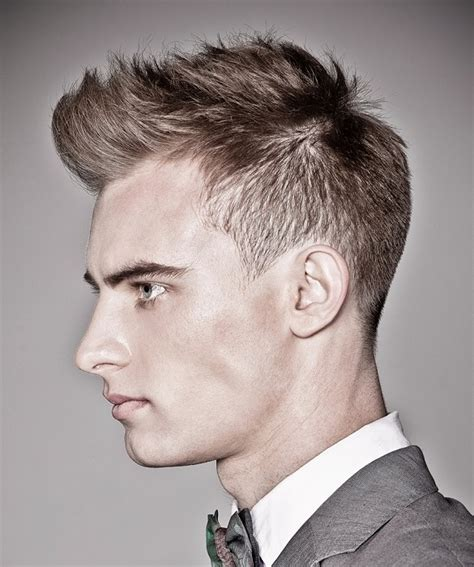 straight on sides curly on top a short brown hairstyle from the mad men collection by