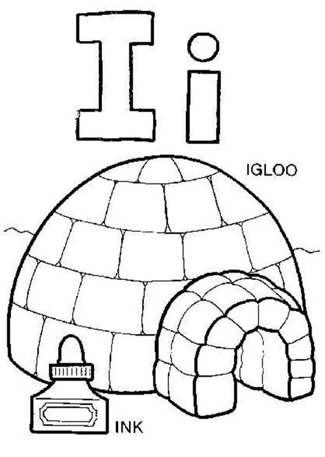 letter i coloring pages capital letter i for igloo coloring page best place to color