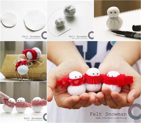 Decorating Your Home On A Budget Ideas creative ideas diy adorable mini felt snowman christmas