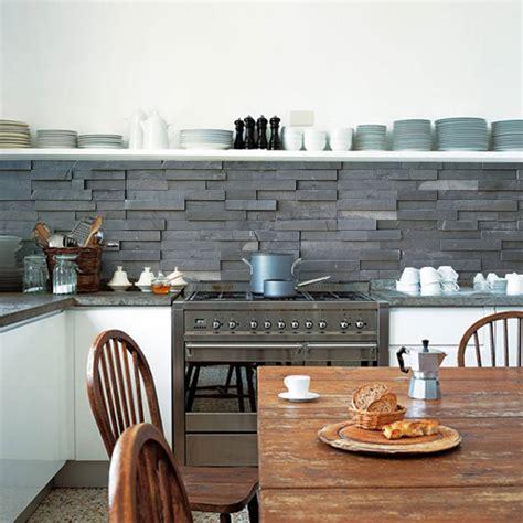 backsplash for kitchen walls slate tiles kitchen walls backsplash wallpaper by lime lace notonthehighstreet