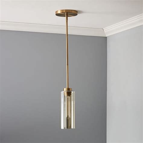 west elm pendants glass cylinder pendant west elm