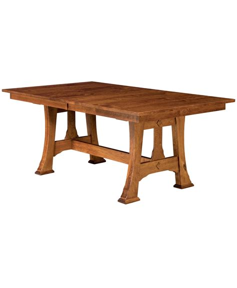 cambridge trestle table amish direct furniture