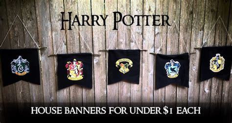 Easy Home Decor Craft Ideas by Harry Potter Hogwarts House Banners Diy Paper Trail Design