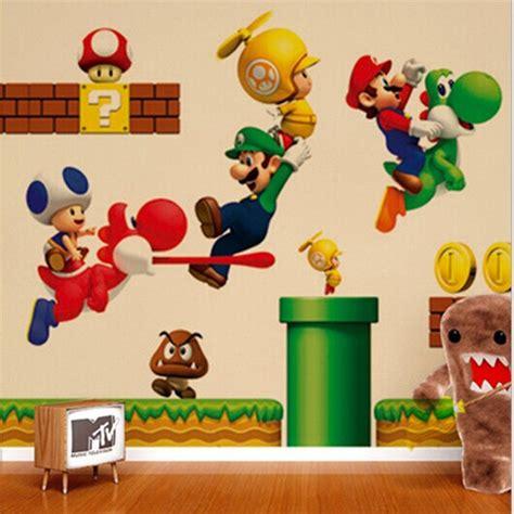 Pac Man Wall Stickers super mario etiquetas das crian 231 as decora 231 227 o do quarto do