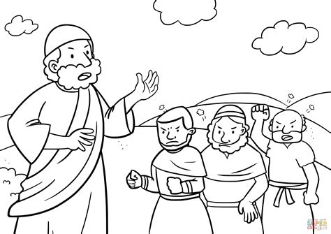 free bible coloring pages moses israelites complaining to moses coloring page free