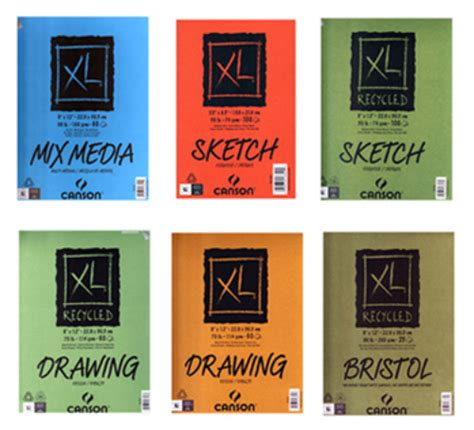 sketchbook canson xl review of canson s xl series of recycled paper pads