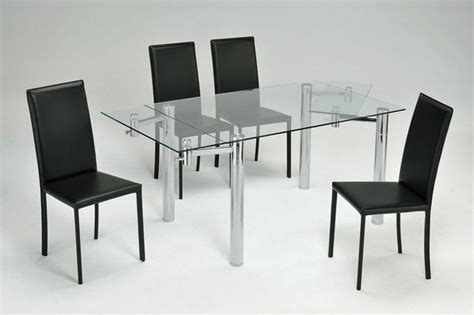 Extendable Glass Dining Table Set Extending Glass Dining Table And 4 Chairs Chairs Category