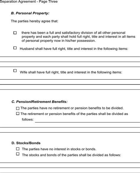 Download Massachusetts Separation Agreement Template For Free Page 5 Formtemplate Divorce Agreement Template Massachusetts