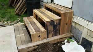 diy pallet 3 step stairs 100 reclaimed pallet furniture