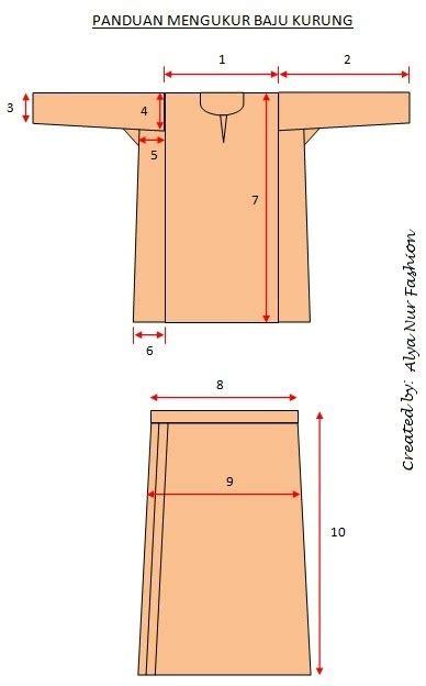 panduan menjahit baju kurung tradisional alya nur fashion house tips ukuran