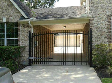 Affordable Garage Doors And Gates Front Driveway Gates Houston Tx Sentry Houston Gate Pros