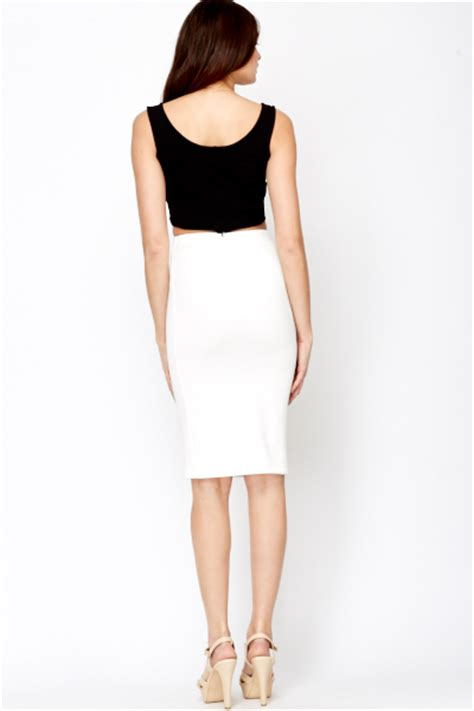 white pencil skirt just 163 5