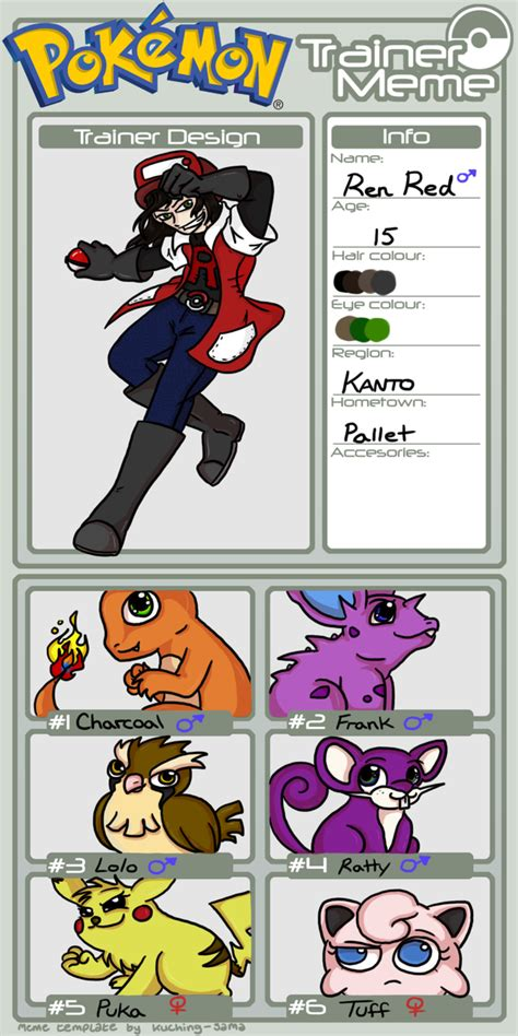 Pokemon Trainer Red Meme - nuzlocke trainer meme ren by dordtchild on deviantart