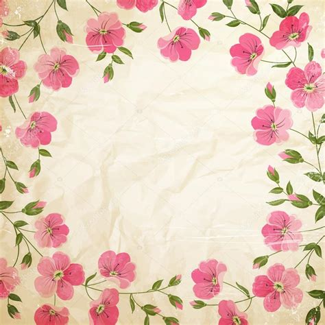 imagenes lindas retro flores vintage grunge vector de stock 169 kotkoa 54816365