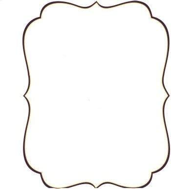 fancy card shape template plaque shape clipart collection