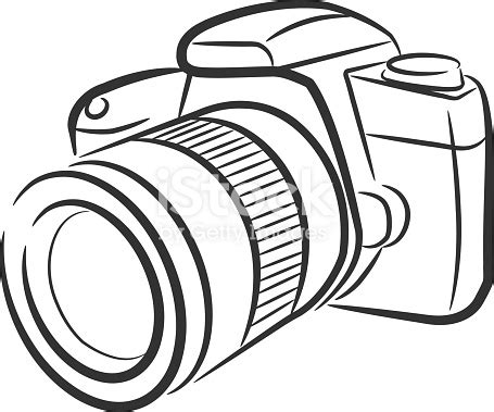 isolated slr camera stock vector art 472298423   istock