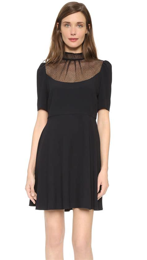 valentino combo dress black in black lyst
