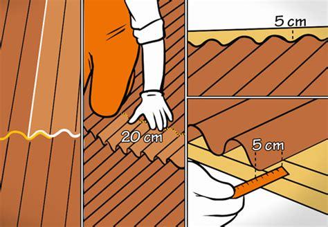 Dach Abdecken Und Neu Eindecken by Dach Decken Mit Bitumenwellplatten Obi Ratgeber