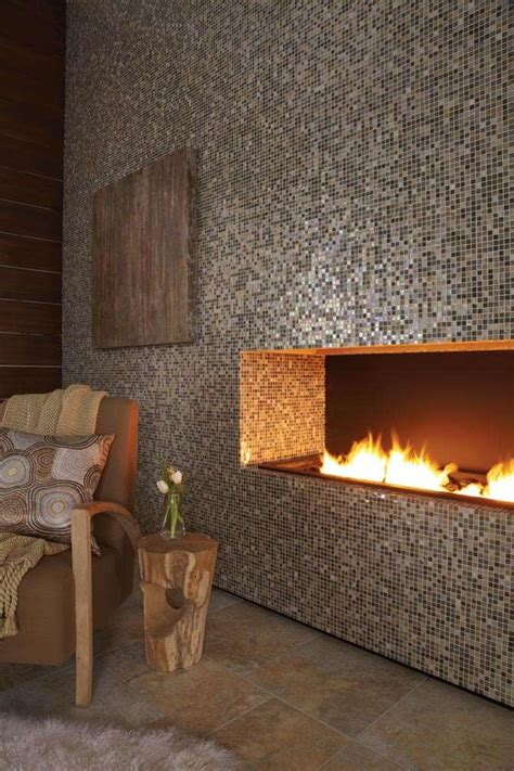 eclectic mosaic tile fireplaces  adorn  home decor