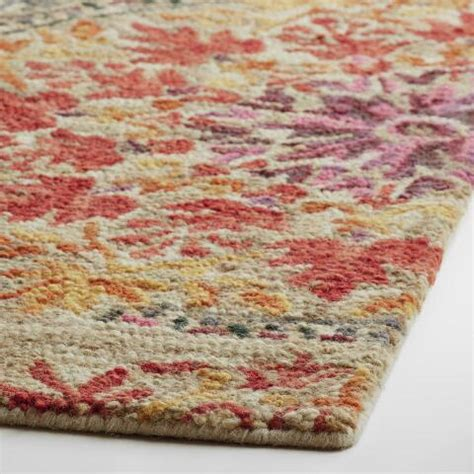 Coral Area Rugs Sale Coral Medallion Tufted Wool Julianna Area Rug World Market