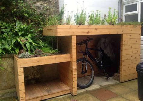 Bike Shed by Five Green Roof Ideas Moral Fibres Uk Eco Green