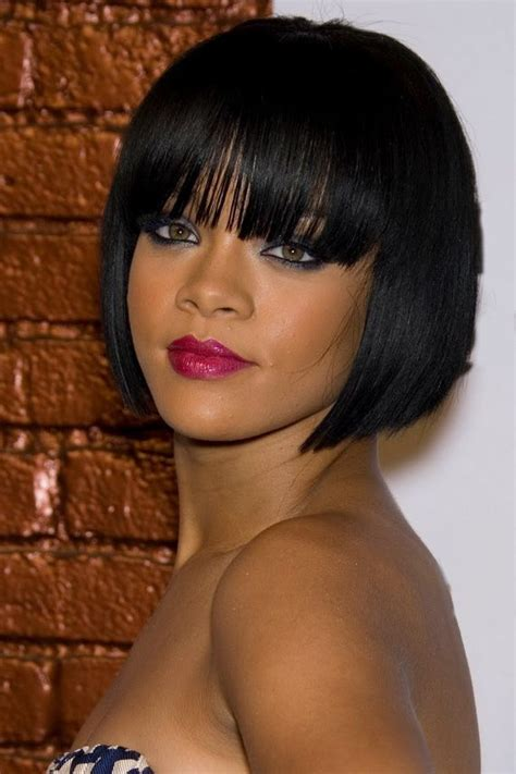 bob with fake bangsblack woman bob haircut with fake bangs the 25 best african american hairstyles for women bobs