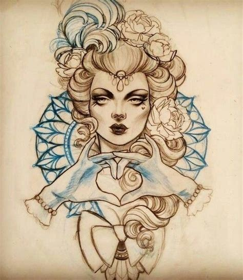 tattoo girl sketch 324 best images about tattoo sketches on pinterest
