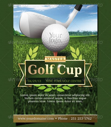 golf brochure templates golf event flyer template design graphic