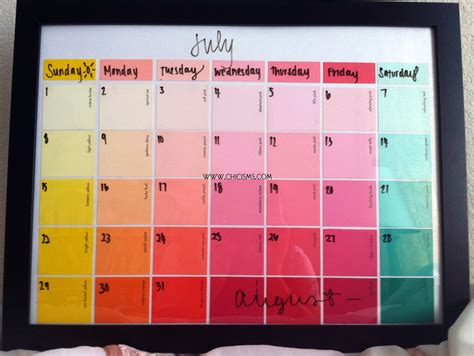 How To Make A Paper Calendar - crafty chic paint sle calendar chicisms a fashion
