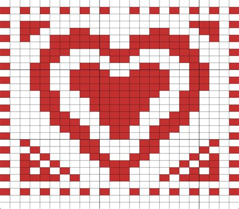 heart pattern on graph paper heart knitting chart bing images