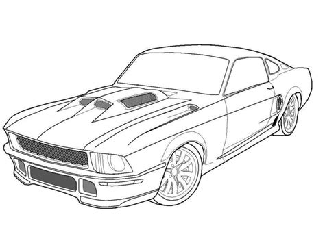 coloring page for car muscle car coloring page transportation coloring pages