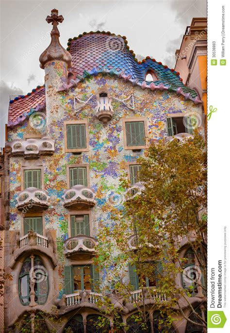 gaudi house barcelona casa batllo antoni gaudi house museum barcelona ca editorial stock photo image of